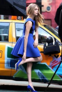 what color shoes to wear with royal blue sequin dress