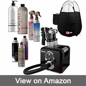 Venus Spray Tan Machine and Gun Kit with Norvell Airbrush Tanning Solution