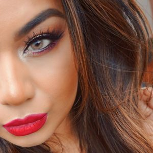 best eye makeup for red lips