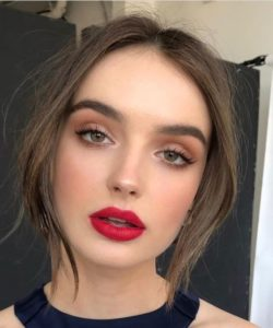 eye makeup for red lips