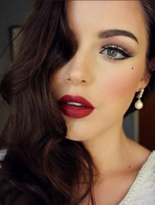 eye makeup for red lipstick