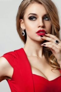 eye makeup ideas for red dress