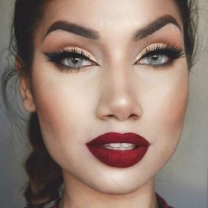 eye makeup tips for red lips