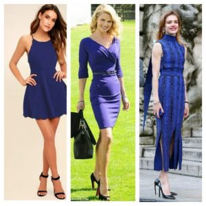 what color shoes can you wear with a royal blue dress