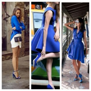 what color shoes can i wear with royal blue dress