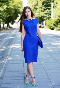 shoes to wear with royal blue short dress