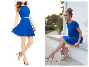 what color shoes would you wear with a royal blue dress