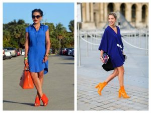 what color shoes look best with royal blue dress