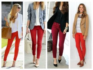 outfit ideas to wear with red pants